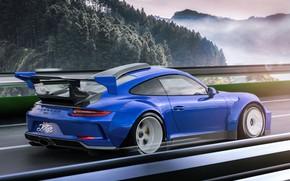 Картинка купе, спорткар, Porsche 911 GT3, спортивный автомобиль, Javier Oquendo