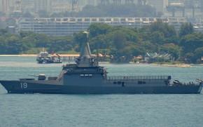 Картинка корабль, Сингапур, патрульный, RSS Indomitable