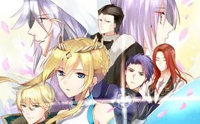 Картинка сияние, лепестки, персонажи, Fate / Grand Order, Судьба великая кампания
