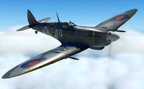 Картинка Британия, Фронтовой истребитель, Spitfire LF Mk. IXc