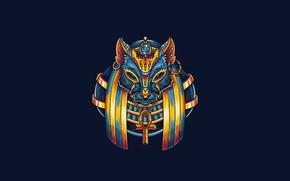 Картинка Fantasy, Art, Egypt, Vector, Cat, Background, God, Beast, Illustration, Minimalism, Egyptian, Angga Tantama, Egypt Mythology