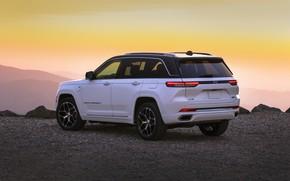 Картинка небо, горы, экстерьер, Jeep, Grand Cherokee, 2022, Summit Reserve, Jeep Grand Cherokee Summit Reserve
