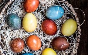 Картинка яйца, Солома, пасха, крашенки