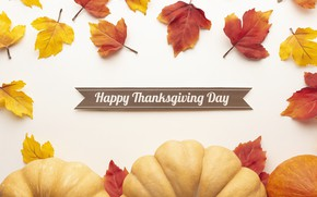 Картинка осень, листья, тыква, autumn, leaves, pumpkin, thanksgiving, День Благодарения