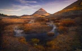 Картинка осень, горы, водоем