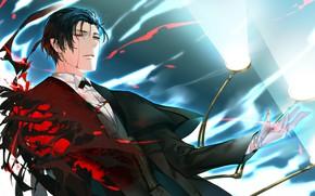 Картинка кровь, парень, Шерлок Холмс, Fate / Grand Order, Судьба великая кампания