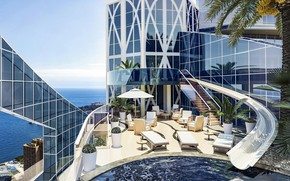 Картинка город, здание, бассейн, Penthouse, Los Angeles, терраса, Лос Анжелес, Eclectic