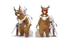 Картинка Рождество, девочка, Новый год, мешки, Fate / Grand Order, Судьба великая кампания