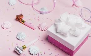 Картинка день рождения, праздник, подарок, зефир