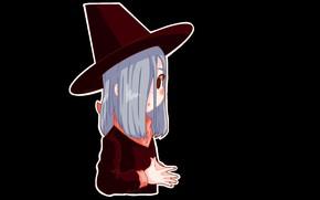 Картинка halloween, witch, шляпа ведьмы, ведьмочка, черная магия, by Nintenloid