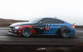 Картинка скорость, Microsoft, BMW M4, game art, Forza Horizon 4, by Wallpy