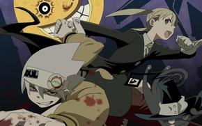 Картинка кровь, аниме, Пожиратель душ, персонажи, Soul Eater