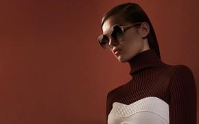 Картинка девушка, фон, очки, Victoria Beckham