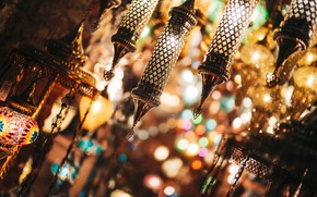 Картинка свет, блики, лампы, Турция