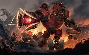 Картинка фантастика, надпись, робот, арт, колеса, sci-fi