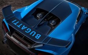 Картинка Bugatti, спойлер, гиперкар, Chiron, 2020, Pur Sport