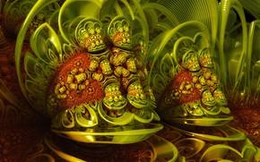 Обои фон, цвет, форма, Green Dream