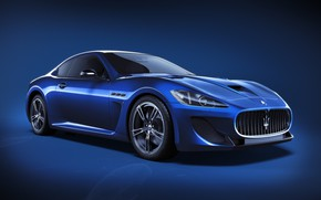Картинка Maserati, Авто, Синий, Машина, Car, Art, Render, Design, Суперкар, Supercar, Спорткар, Sportcar, CGI, Transport & …