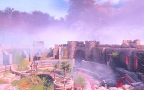 Картинка замок, скалы, внутренний двор, a plague tale: innocence