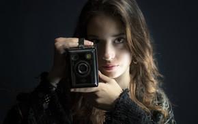 Картинка девушка, камера, Alexia