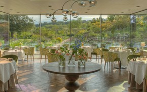Картинка интерьер, ресторан, отель, помещение, Sussex, Gravetye Manor Hotel, Vowels Lane, West Hoathly