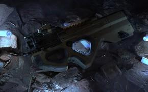 Картинка оружие, weapon, render, пистолет пулемёт, smg, mashin pistol, P20