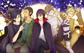 Картинка аниме, арт, парни, баскетбол, хеллоуин, Kuroko no Basket