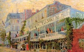 Картинка Paris, Vincent van Gogh, балконы, Restaurant de la Sirene at Asnieres