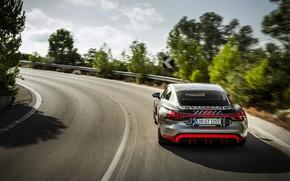 Картинка Audi, купе, поворот, 2020, RS e-Tron GT Prototype