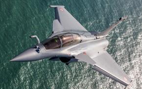 Картинка Море, Истребитель, Фонарь, Пилот, Dassault Rafale, ВВС Индии, Кокпит, ПГО, ИЛС, Rafale DH