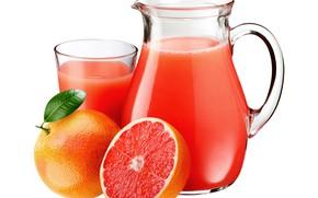 Картинка сок, напиток, грейпфрут