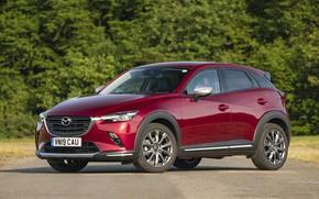Картинка фото, Mazda, Автомобиль, Бордовый, Кроссовер, CX-3, 2019, Sport Nav