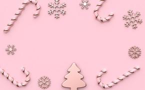Картинка снежинки, праздник, новый год, композиция