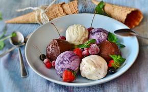 Картинка еда, мороженое, фруктовое