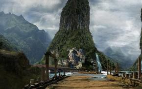 Картинка руины, Ruins, Jon Yousef, mount scenery