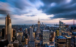 Картинка Нью-Йорк, США, Манхэттен, New York, Empire State Building