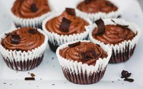 Картинка шоколад, десерт, выпечка, шоколадный, кексы