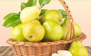 Картинка still life, pears, basket