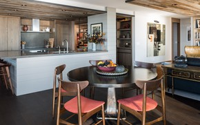 Картинка интерьер, кухня, vintage, уютно, столовая, NONAGON style, Continental Place Apartment, by Hoedemaker Pfeiffer