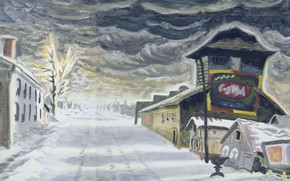 Обои 1917, Charles Ephraim Burchfield, Clearing after a Snowstorm