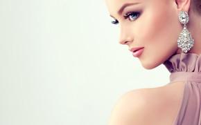 Картинка девушка, стиль, модель, макияж, украшение, edwardderule