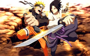Картинка меч, Саске, Наруто, Naruto, кунай, Naruto Shippuden