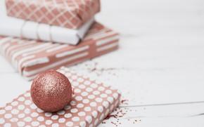 Картинка подарки, праздник, wood, Новый год