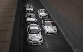 Картинка Авто, Белый, Машина, Mitsubishi, Nissan, Белые, Cars, Supra, Skyline, Toyota Supra, 240SX, Спорткар, Nissan Skyline …