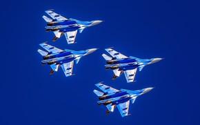 Картинка пилотажная группа, многоцелевой истребитель, Су-30СМ, Su-30SM, «Русские Витязи»