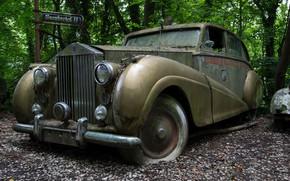 Обои Rolls-Royce, лом, Silver Wraith
