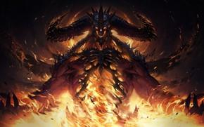 Картинка Fire, Blizzard, Art, Diablo, Game