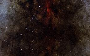 Картинка Stars, Constellation of Sagittarius, VISTA, The Archer, Galactic Centre, Y-J-Ks filters, One million stars, Near-infrared