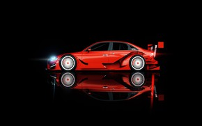 Картинка Audi, Минимализм, Ауди, Машина, Фон, Вид сбоку, Audi A4, Transport & Vehicles, by Nicolas Fauvel, …