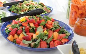 Картинка фото, тарелка, салат